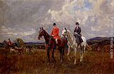 Lionel Edwards On The Downs painting