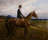 Lionel Edwards Portrait of Evelyn Rolt on Horseback painting