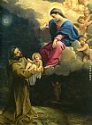 Lodovico Carracci The Vision of Saint Francis painting