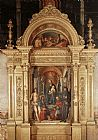 Lorenzo Costa Madonna and Saints painting