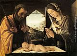 Lorenzo Costa Nativity painting