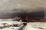 Louis Apol A Late Afternoon In Winter painting