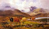 Louis Bosworth Hurt A Misty Day in the Highlands painting