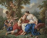 Louis Lagrenee Rinaldo and Armida painting