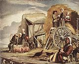 Louis Le Nain The Cart or Return from Haymaking painting