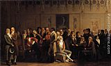 Louis-Leopold Boilly Meeting of Artists in Isabey's Studio painting