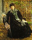 Lovis Corinth In a Black Coat painting