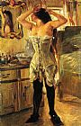 Lovis Corinth In a Corset painting
