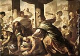 Luca Giordano Christ Cleansing the Temple painting