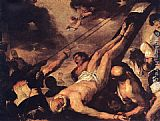 Luca Giordano Crucifixion of St. Peter painting