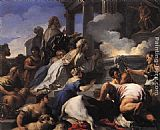 Luca Giordano Psyche's Parents Offering Sacrifice to Apollo painting