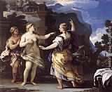 Luca Giordano Venus Punishing Psyche with a Task painting