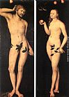 Lucas Cranach the Elder Adam and Eve painting