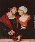 Lucas Cranach the Elder Amorous Old Woman and Young Man painting