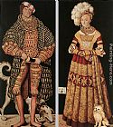 Lucas Cranach the Elder Portraits of Henry the Pious, Duke of Saxony and his wife Katharina von Mecklenburg painting