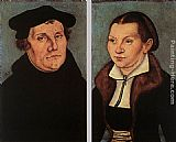 Lucas Cranach the Elder Portraits of Martin Luther and Catherine Bore painting