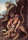 Lucas Cranach the Elder Samson's Fight with the Lion painting
