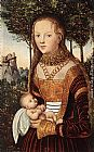 Lucas Cranach the Elder Young Mother with Child painting