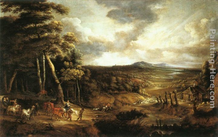 Lucas Van Uden Landscape with the Flight into Egypt