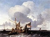 Ludolf Backhuysen Ships on the Zuiderzee before the Fort of Naarden painting