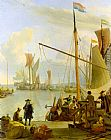 Ludolf Backhuysen View from the Mussel Pier in Amsterdam painting