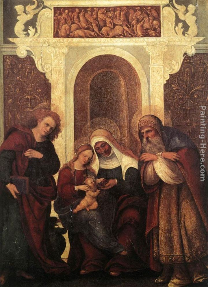 Ludovico Mazzolino Madonna and Child with Saints