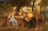 Ludwig Knaus The Birthday Party painting
