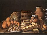Luis Melendez Still-Life with Oranges and Walnuts painting