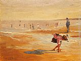 Marguerite Rousseau On the Beach painting