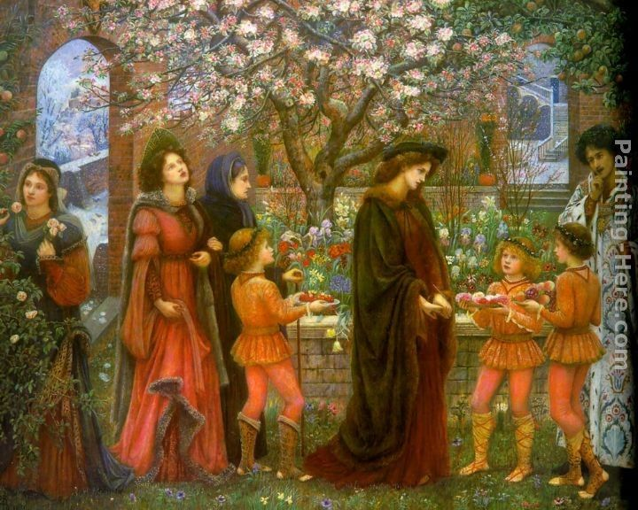 Maria Spartali Stillman The Enchanted Garden of Messer Ansaldo