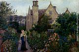 Maria Spartali Stillman The Long Walk At Kelmscott Manor, Oxfordshire painting