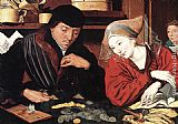 Marinus van Reymerswaele The Banker and His Wife painting