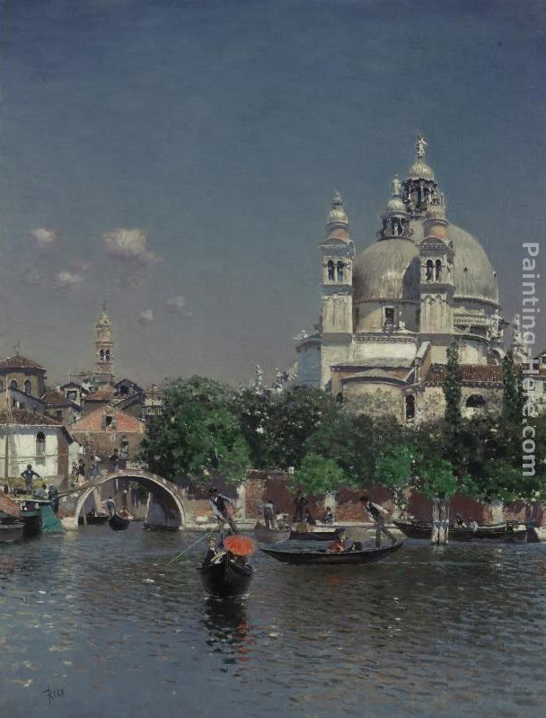 Martin Rico y Ortega Venetian Lagoon Near the Church of Santa Maria della Salute