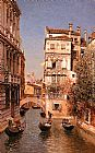 Martin Rico y Ortega Along The Canal, Venice painting