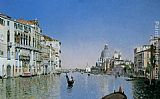 Martin Rico y Ortega Gondola on the Grand Canal painting