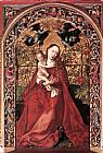 Martin Schongauer Madonna of the Rose Bush painting