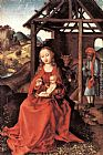 Martin Schongauer The Holy Family painting