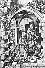 Martin Schongauer The Nativity painting
