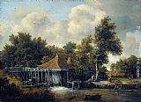 Meindert Hobbema A Water Mill painting