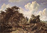 Meindert Hobbema A Wooded Landscape painting
