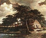 Meindert Hobbema Landscape with a Hut painting