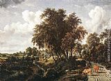 Meindert Hobbema Road on a Dyke painting
