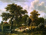 Meindert Hobbema The Travelers painting