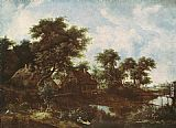 Meindert Hobbema The Watermill painting