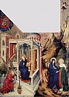 Melchior Broederlam The Annunciation and the Visitation painting