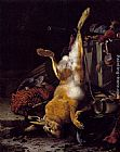 Melchior de Hondecoeter A Still Life Of Dead Game And Hunting Equipment painting
