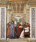 Melozzo Da Forli Foundation of the Library painting