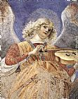 Melozzo Da Forli Music-making Angel painting