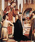 Michael Pacher St Lawrence Distributing the Alms painting