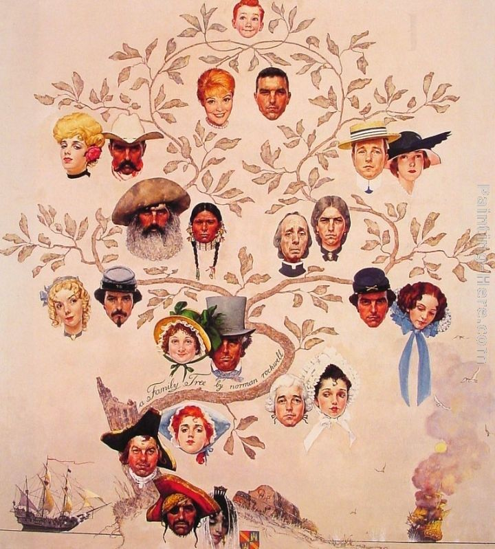 Norman Rockwell A Family Tree